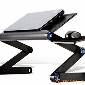 Супер нагаждаща се метална маса за лаптоп Т9 с най-мощния охладител и стойка за мишка