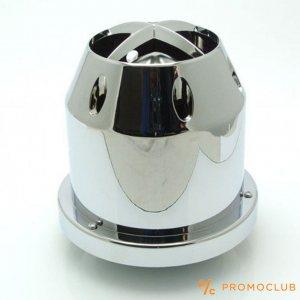 Tунингов спортен въздушен авто филтър в хромен кожух за експлозивна мощност на двигателя
