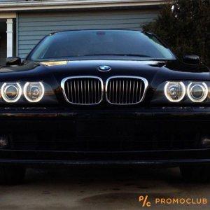 LED фарове ANGEL EYE - ангелско око за BMW 3W  BMW E39, E53, E60, E63, E64, E65, E66, E87