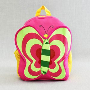Лека компактна детска раица BUTTERFLY 21089 PINK, анатомичен гръб, розова пеперуда