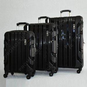 3 броя спинър куфари URBAN BUSINESS, полипропилен 31186, Черeн