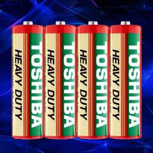 4 броя мощни батерии TOSHIBA HEAVY DUTY R6 1.5V