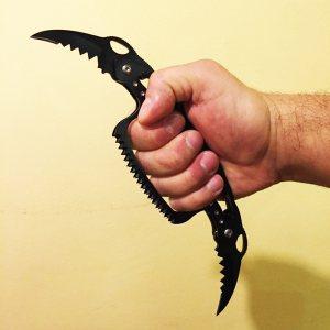 Рядък модел сгъваем  двоен нож-бокс BLACK MAMBA 2 in 1