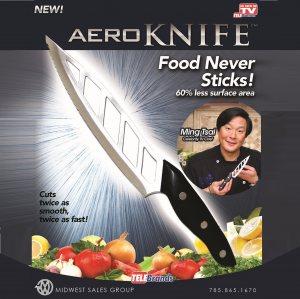Незалепващ остър и лек кухненски нож AERO KNIFE