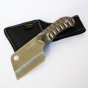 Компактна брадвичка - сатър COLUMBIA SANJA  BLADE, метална дръжка, калъф