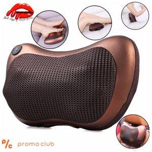 Портативен мощен шиацу масажор - възглавница CHM 8028 с нагряване за колата, офиса и дома
