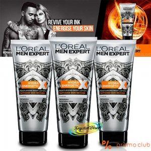 Високотехнологичен хидратиращ крем за татуировки LOREAL MEN EXPERT - запазва цвета