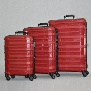 3 броя спинър куфари URBAN BUSINESS RED 31185, полипропилен