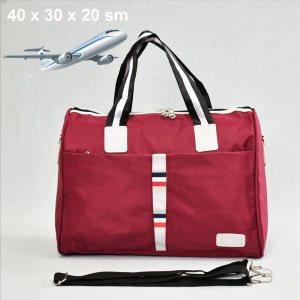 Куфарен авио сак TOMMY H 12006 RED SPORT за ръчен багаж,  20 х 30 х 40 см