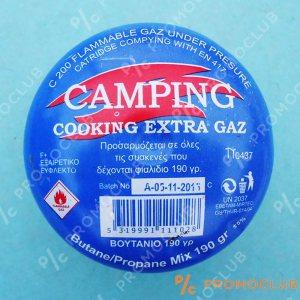 Къмпинг газ-пълнител, мини бутилка за котлони, лампи и др.190 гр. пропан бутан