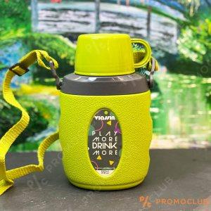 Удобна манерка с чаша VIASSIN GREEN 600 мл. с регулируема презрамка