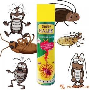 Мощен инсектициден спрей HALEK 400 ml срещу всякакви пълзящи и летящи насекоми