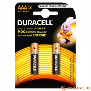 Две батерии DURACELL AAА, 1.5V LR03, DURALOCK Alcaline