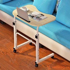 Уникална компютърна масичка SIDE TABLE DESK,  колелца, регулиране на височината