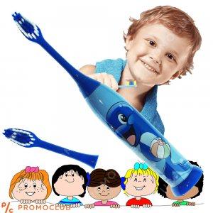 Детска ултразвукова елeктрическа четка за зъби BLUE DOLPHIN с резервна глава SOFT