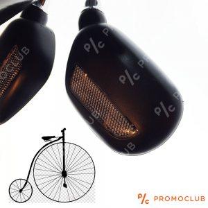 Две вело-мото огледала с обратни светлоотразители