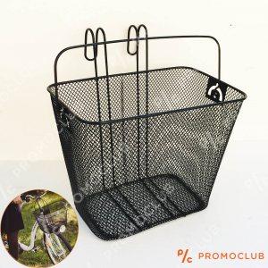 Мобилна пазарска вело кошница ТОП изпълнение, закачане на волана