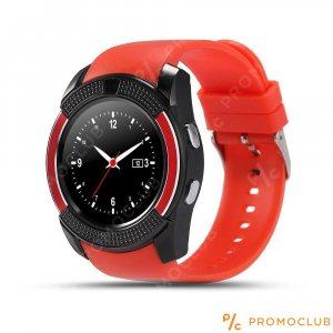 Стилен смарт часовник V8 RED с блутут, камера и SIM карта, смарт телефон на ръката ти