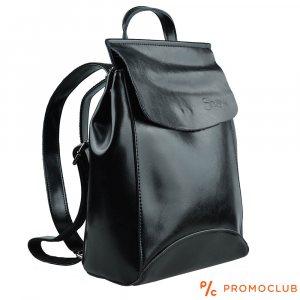 Дамска чанта - раница SNOW BLACK, еко кожа