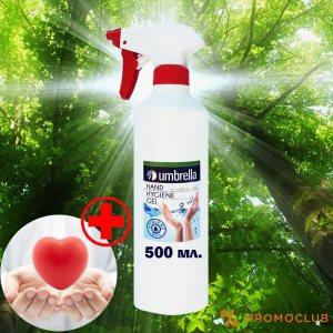 ТОП: Антибактериален дезинфекциращ гел UMBRELLA - помпа, 500 ml.
