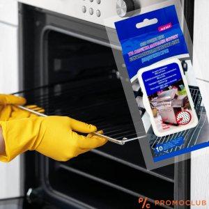 10 броя мокри кърпи за почистване на фурни, микровълнови и барбекю 25 х 25 см