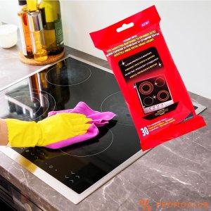 30 броя мокри кърпи за очистване на стъклокерамични котлони