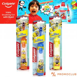 Детска електрическа четка за зъби COLGATE  KIDS MINIONS, супер мека, 3+