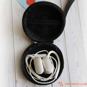 Полу-твърд калъф за слушалки, кръгъл с цип
