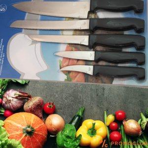 Комплект от 5 кухненски ножа, нераждаема стомана 420