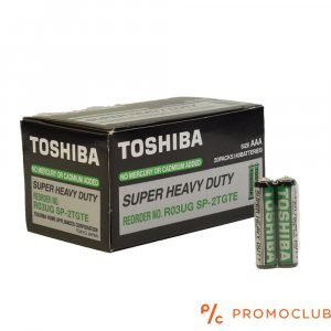Кутия 40 батерии TOSHIBA Super Heavy Duty R03UG SP- 2TGTE Size AAA- усилени