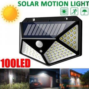 Мощна соларна ТОП 100 LED лампа с датчик за движение CL-100