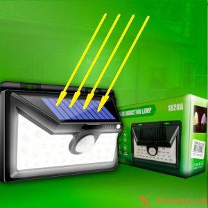 Мощна соларна LED лампа с датчик за движение 1828A