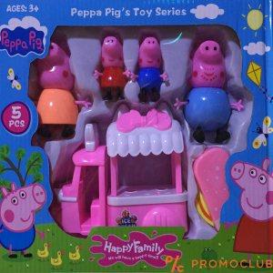 Peppa pig Цялото семейство заедно с камион за сладолед