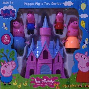 Peppa pig цялото семейство и замък