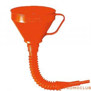 Оранжева фуния за гориво с гъвкав чучур