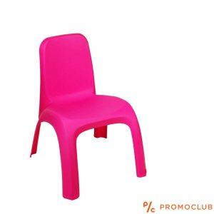 Малко розово детско столче за дечица 1-3 год., вис. 43 см. шир. 35 см.