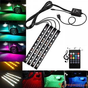 MP3 LED осветление на автомобили и камиони отвътре и отвън, 12-24V и дистанционно у-ие