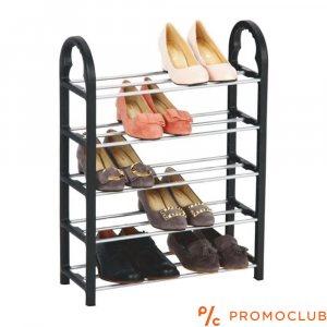 Пет редов стелаж за обувки SHOE FIVE de LUX, 63.5 x 18.5 x 66 см.