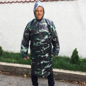 Голям комуфлажен ТОП дъждобран MILITARY XXL