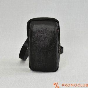 Малка мъжка чанта от естествена кожа COMPACT 6830