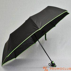 Сгъваем чадър BLACK-GREEN LINE 22802