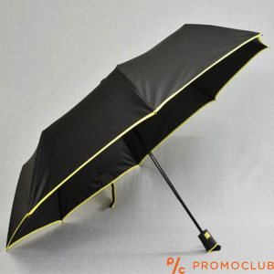 Сгъваем чадър с BLACK-YELLOW LINE 22802