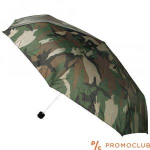 Компактен камуфлажен ръчен чадър, Ф80 см