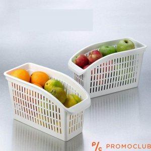 Бяла кутия - органайзер за хладилник, висока и тясна 24 х 9 х 17 см.