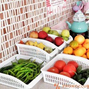 Пластмасова кутия - органайзер за хладилник, широка и плитка