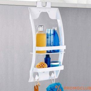Практичен рафт за аксесоари за баня QLUX FLEXI, за стена или шкаф