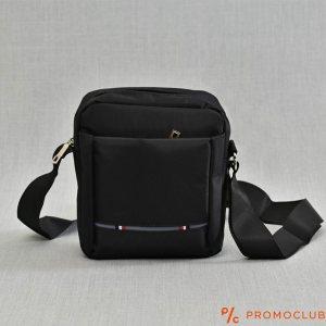 Мъжка чанта от текстил s дръжка за през рамо  BLACK 2701