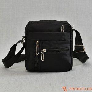 Мъжка чанта от текстил и регулируема дръжка за през рамо BLACK 9882