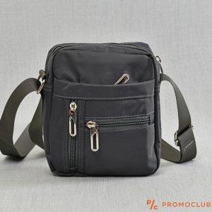 Мъжка чанта от текстил- сива 9882