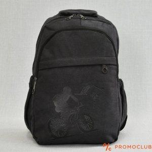 Раница от брезент, здрава и удобна с вътрешен джоб BLACK 8809